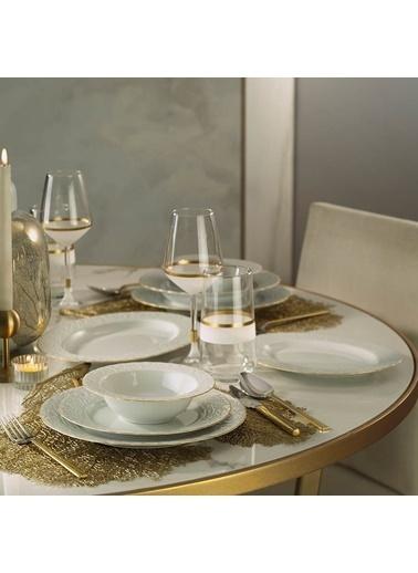 Kütahya Porselen Kütahya Porselen Başak 51 Parça Altın Fileli Yemek Takımı Renkli